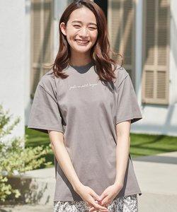 洗える/UV/抗菌防臭【SS-3L】ギザコットンモックネックシンプルTシャツ