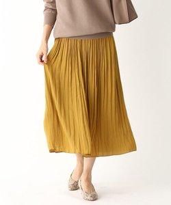 【洗濯機OK】ヴィンテージサテンギャザープリーツスカート
