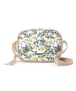 花柄ボックスショルダーバッグ