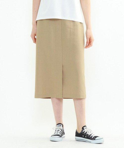 「S」ストレッチリネンナロースカート