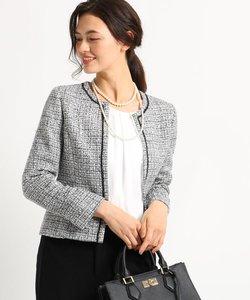 【ママスーツ/入学式 スーツ/卒業式 スーツ】ネオブライトツイードジャケット