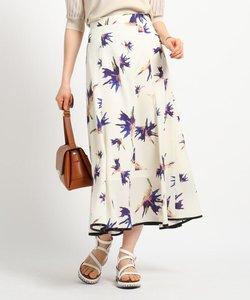[S]【ハンドウォッシュ】花柄プリント マーメイドロングスカート