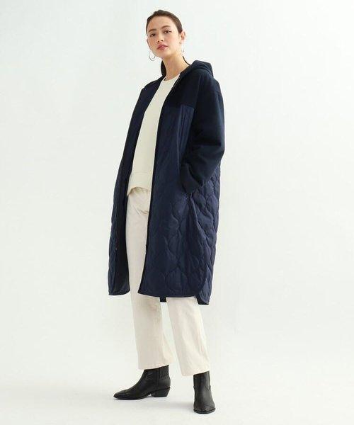 [S]マルチタフタ中綿コート