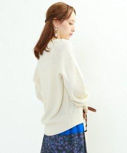 [S]【ハンドウォッシュ】ウーリーシャイニーVネックニット