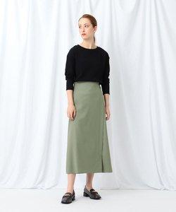 【WEB限定/マシンウォッシュ】サス付きツイルラップスカート