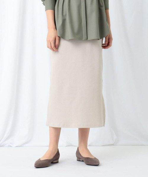 [S]【WEB限定/ハンドウォッシュ】プリーツリブジャージロングスカート