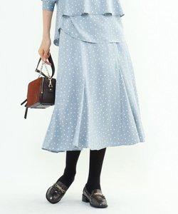 【マシンウォッシュ】ハンドペイント幾何柄スカート