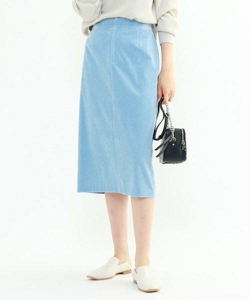 【マシンウォッシュ】クリアコーデュロイタイトスカート