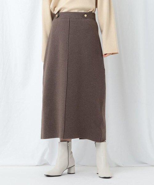 【WEB限定/ハンドウォッシュ】ウール混ナロースカート