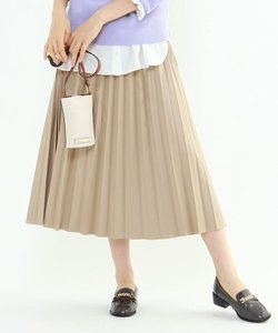 「L」レザープリーツスカート