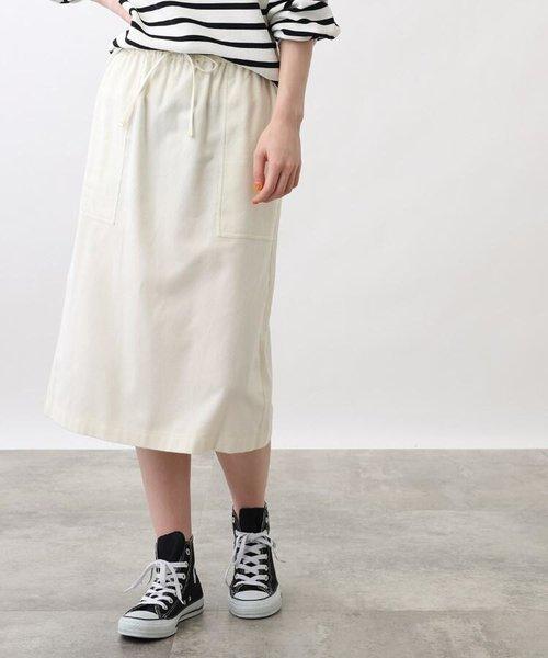 コットンツイルタイトスカート