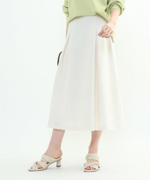 「L」モノリスツイルフレアスカート