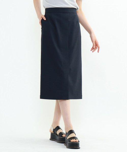 「L」ストレッチリネンナロースカート