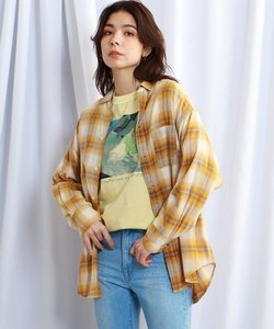【ウォッシャブル】コットンオーバーサイズチェックシャツ