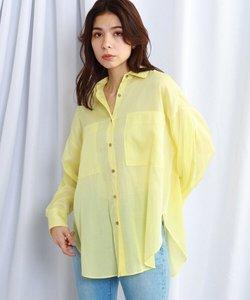 【ウォッシャブル】シアーストライプシャツ