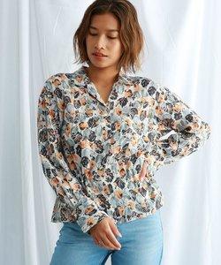 ボタニカルシックペプラムシャツ