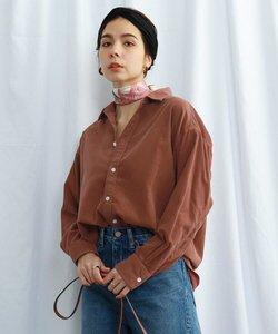 【ウォッシャブル】コットンオープンカラーコーデュロイシャツ
