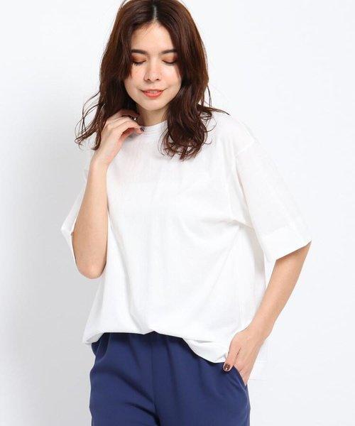 【ウォッシャブル】マドライコットンオーバーサイズTシャツ