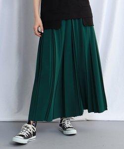 【ウォッシャブル】ウエストゴムプリーツロングスカート