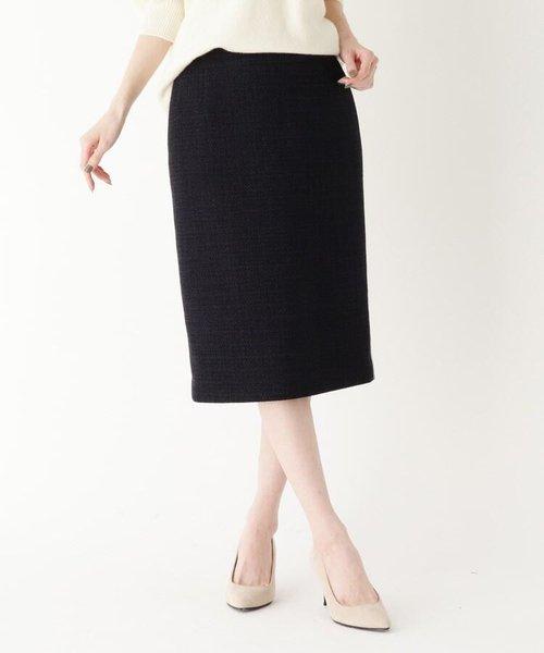 サイドラインツイードタイトスカート