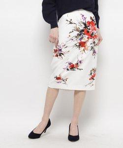 ウォーターフラワータイトスカート