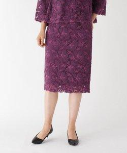 リリーフラワーミモレレーススカート