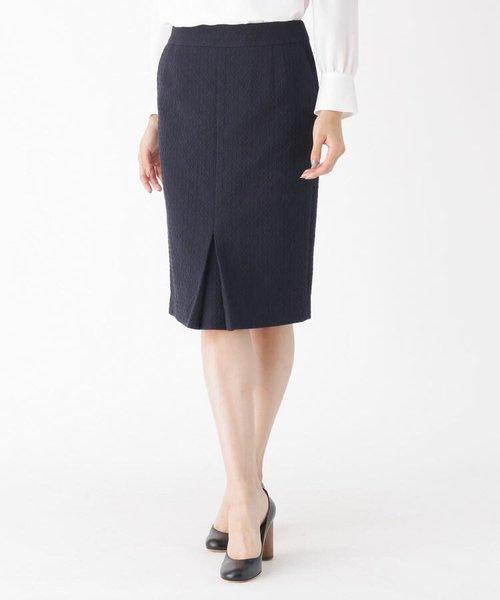 膨れジャカードタイトスカート
