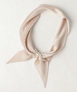 【リング付き】プリーツサテン スカーフ