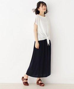 【セットアイテム】サイドリボンTシャツ+ロングスカート