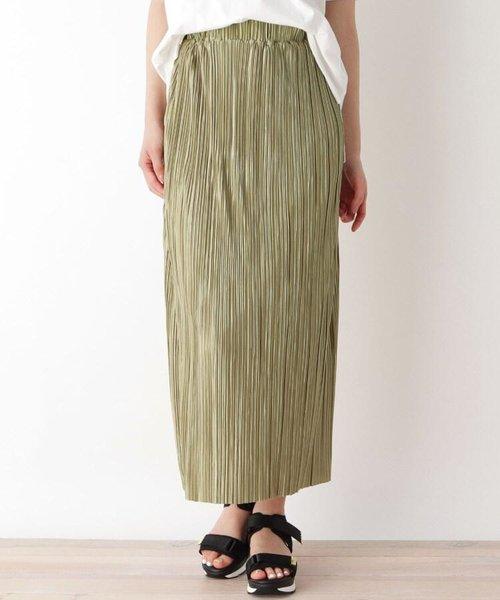 【M-L】カットプリーツナロースカート