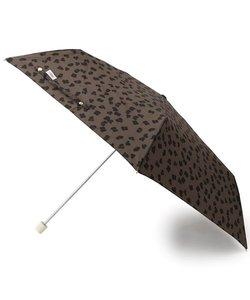 <晴雨兼用><ケース付き>レオパード折り畳み傘