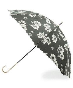 Wpc. フラワー柄スカラップ長傘