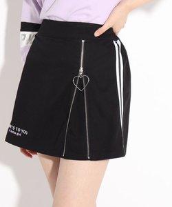 フロントZIP開きスカート