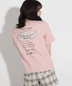バックサークルワッペンコットンTシャツ