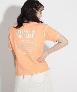 ★ニコラ掲載★パイピングロゴコットンTシャツ