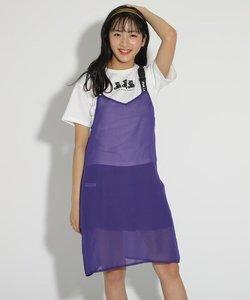 ★ニコラ掲載★シースルーキャミワンピース&Tシャツセット