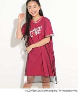 ★ニコラ掲載★【COCA-COLA/Cherry Coke/コカ・コーラ/チェリーコーク】チョーカー付きチュールワンピース