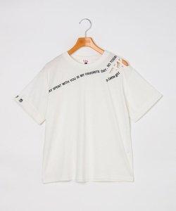 ショルダーバイアスロゴTシャツ