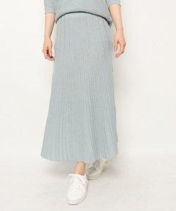 【手洗い可】リブニットマキシスカート