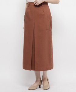 【手洗い可】インバーテッドプリーツロングスカート