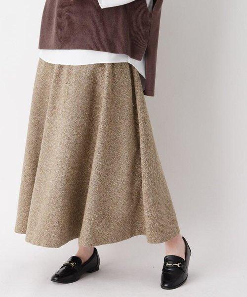 ジャズネップツィードフレアスカート