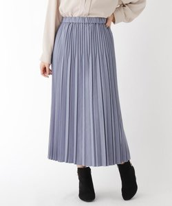 【大きいサイズあり・13号】起毛シャンブレープリーツスカート