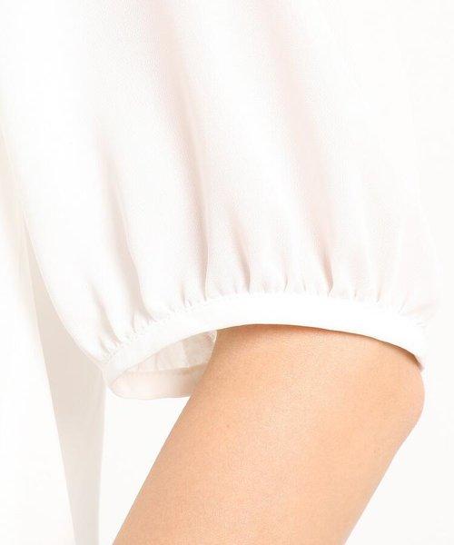 【洗える】ペプラム五分袖プルオーバー