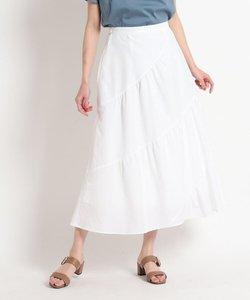 【洗える】ロングティアードスカート