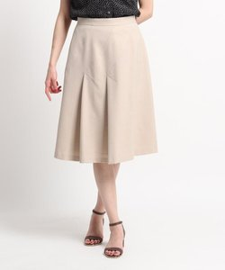【洗える】斜め切替えデザインフレアスカート