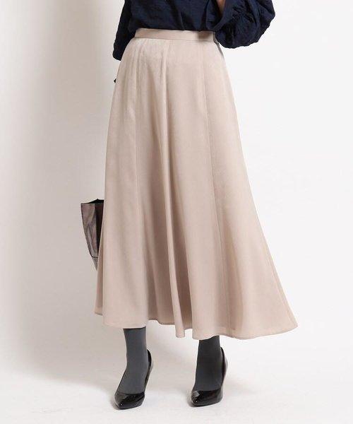 【洗える】ピーチサテンロングスカート