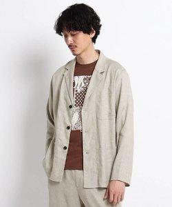 リネン シャツジャケット
