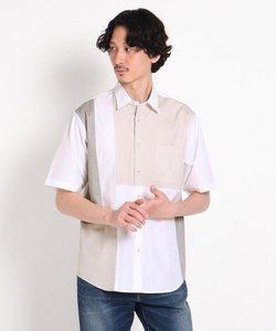 パッチワーク 半袖シャツ