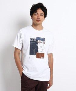 【Sサイズ~】パッチワークグラフィック プリントTシャツ
