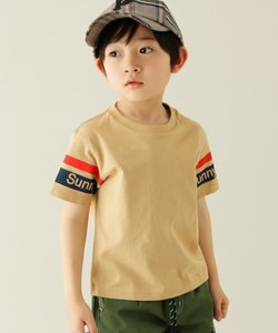 【100-150cm】Sunny袖ラインTシャツ